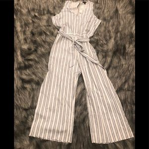 NWT Anthropologie Drew pin striped jumpsuit